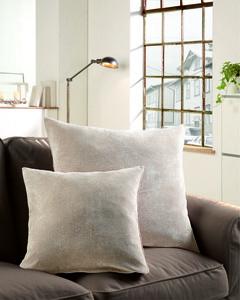"Bella Casa XL-Kissen ""Muri"", ca. 60 x 60 cm - Silber-Taupe"