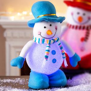 I-Glow LED Schneeballfigur groß - Blau