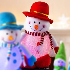 I-Glow LED Schneeballfigur groß - Rot