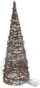 LED-Kegel - aus Rattan - 60 cm