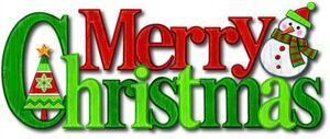 Wanddeko - Merry Christmas - aus Kunststoff - 38 cm - rot/grün