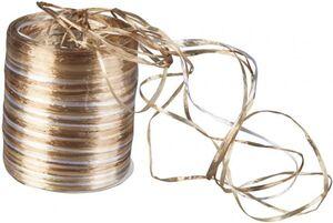 Geschenkband - aus Kunststoff - 50 m - gold