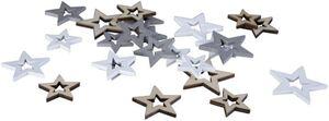 Streudeko - Sterne - aus Holz - 24 Stück
