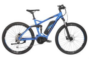 Fischer Fully-Mountain-E-Bike EM 1862.1, 27,5 Zoll, brillantblau matt