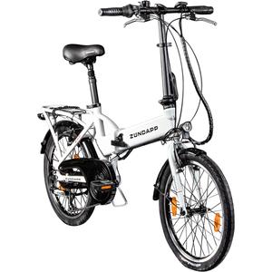 Zündapp Z101 20 Zoll Faltrad E-Bike Klapprad Pedelec StVZO Elektrofaltrad 6 Gänge, Farbe:weiß