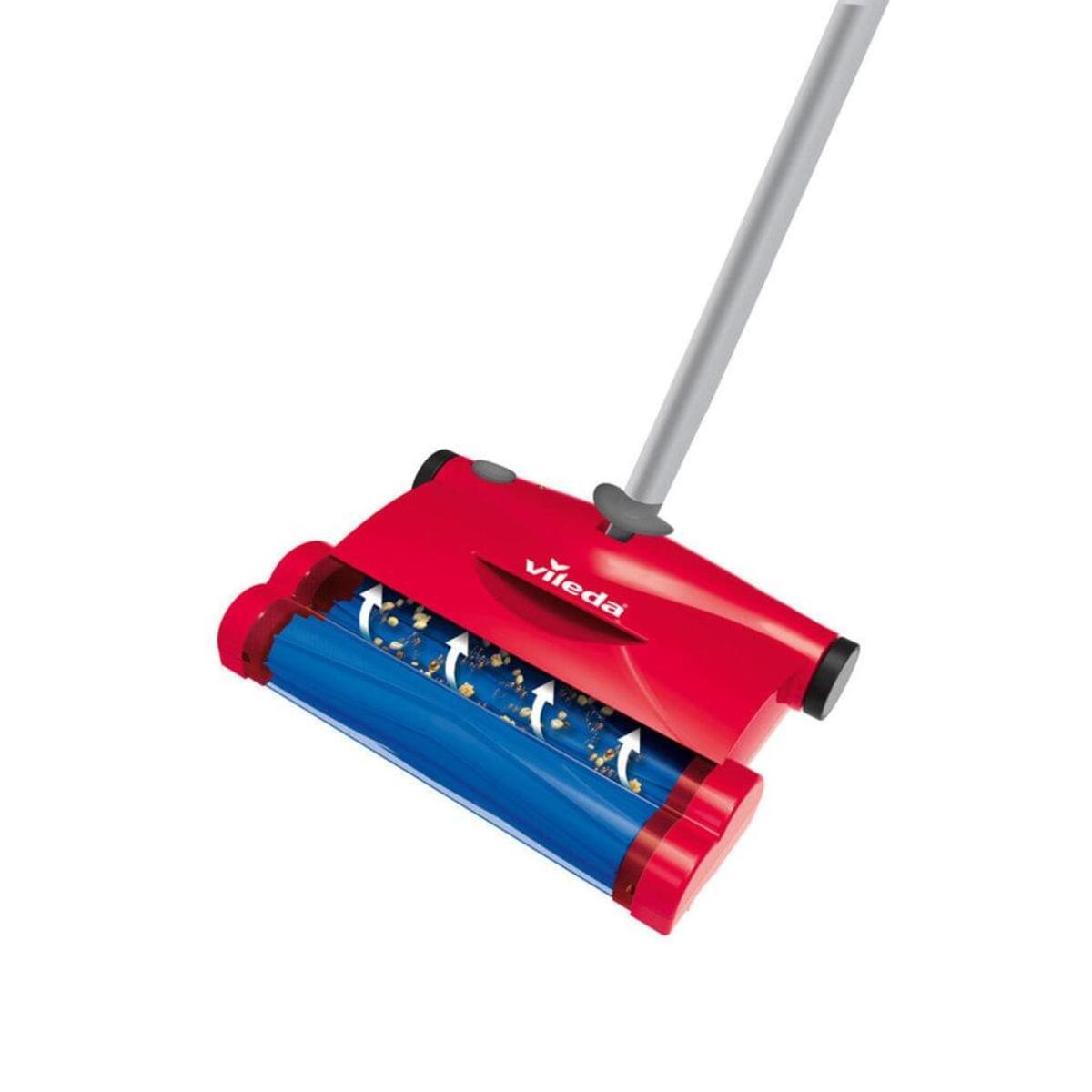 Bild 2 von Vileda Quick & Clean Akkubesen Teppichkehrer Rot Kehrbesen Besen Handstaubsauger