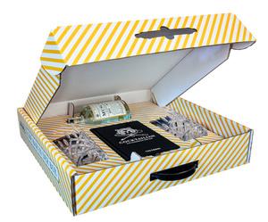 Die Bar in der Box Geschenkbox | Muscatel Distilled Gin 0,5 l powered by Joko Winterscheidt + Bar-Buch Cocktailian + 2 Nachtmann Longdrink-Gläser je 295 ml Volumen