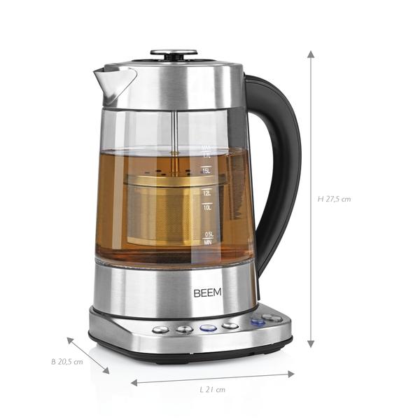 1,7 l integriertes Teesieb  4 Programme und Wasserkocher BEEM TEATIME Tee