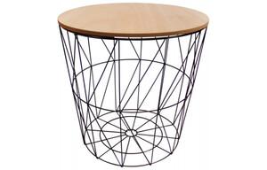 Tisch Metall hellbraune Platte ø ca. 39 cm