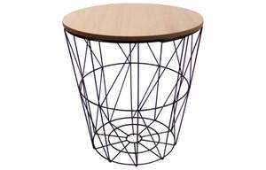 Tisch Metall hellbraune Platte ø ca. 29 cm
