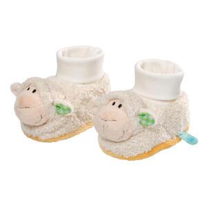NICI Babyschuhe Lamm mit Rassel Plüsch, Plüschschuhe, Schuhe, Baby, Pantoffel, 36950
