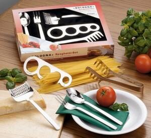 Esmeyer 15-tlg. Spaghetti-Besteck BOLOGNA aus Edelstahl 18/0 poliert im Geschenkkarton mit Tiefzieheinlage, 199-239
