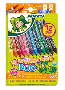 JOLLY Superstar Duo sort., 12er-Kartonetui
