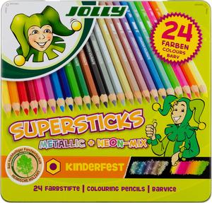 JOLLY Superstick kinderfest METALLICMIX, 24er-Metalletui