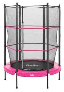 Salta Junior Trampoline für In- und Outdoor - rund - Ø140cm - Schutzrand Pink