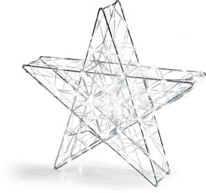 Dekor LED Metallstern XXL - silber, kaltweiß