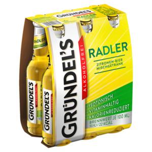 Gründel's Radler alkoholfrei 6x0,33l