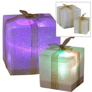 LED-Geschenkpäckchen mit Farbwechsler 7,5cm