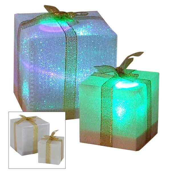 LED-Geschenkpäckchen mit Farbwechsler 5cm