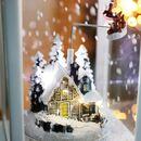 Bild 3 von LED-Weihnachtslaterne Schneegestöber 37cm Weiß
