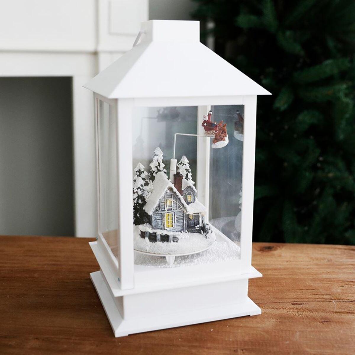 Bild 4 von LED-Weihnachtslaterne Schneegestöber 37cm Weiß