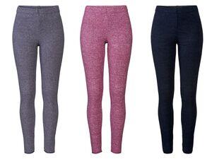 ESMARA® Lingerie Damen Leggings, elastischer Bund, weiche Plüsch-Qualität