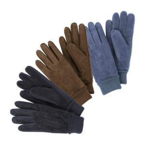 ROYAL LIFE     Veloursleder-Handschuhe mit Strickeinsätzen
