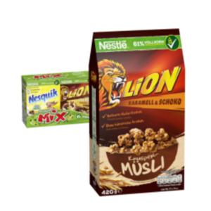 Nestlé Frühstückscerealien oder Lion Knuspermüsli