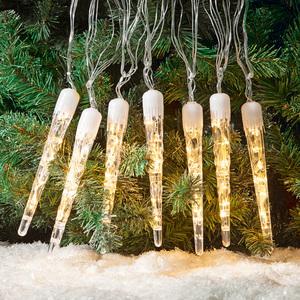 I-Glow LED-Eiszapfen-Lichterkette 7er