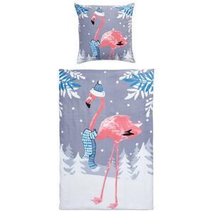 Micro-Fleece-Bettwäsche Flamingo (135x200, Fotodruck)