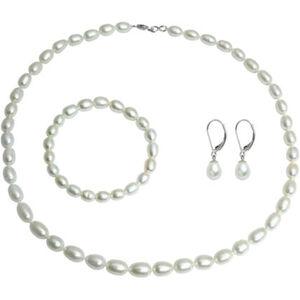 Vandenberg Damen Schmuck Set aus Collier, Armband und Ohrhängern, 925er Silber, weiß