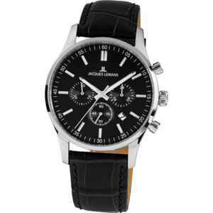"Jacques Lemans Herren Chronograph London ""JL 1-2025A"", schwarz / silber"
