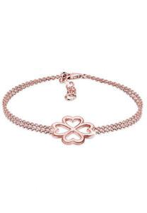 Elli Armband Kleeblatt Glücksbringer Luck 925 Silber, Rosegold