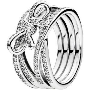 "Pandora Damen Ring Zarte Gefühle ""190995CZ"", 925er Silber, 52, silber"