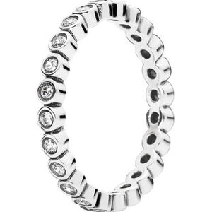 "Pandora Damen Ring Kreise ""190941CZ"", 925er Silber, 54, silber"