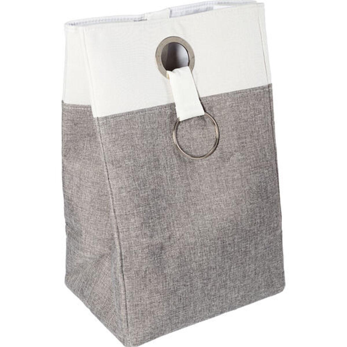 Bild 2 von Yorn Home Wäschebehälter, grau/weiß, grau/weiß