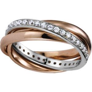 Celesta Ring, 925er Silber, rotvergoldet, 54, silber/roségold