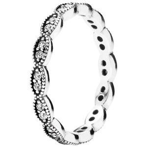 "Pandora Damen Ring Funkelnde Blätter ""190923CZ"", 925er Silber"