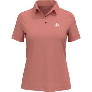 Odlo Poloshirt, geruchshemmend, Marken-Detail, für Damen, coral, XL