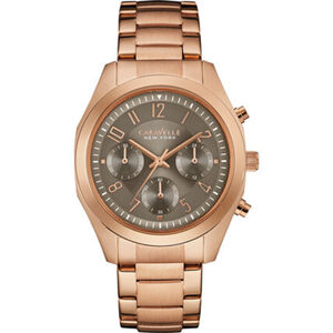 "Caravelle New York Damen Chronograph Rose & Taupe ""44L198"""
