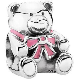 """Pandora Charm """"Teddybär rosa"""", 925er Silber"""