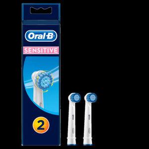 Oral-B Ersatz-Aufsteckbürsten Sensitive, 2er Pack