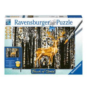 "Ravensburger Puzzle ""Hirsch im Birkenwald"", Touch of Gold, 1200 Teile"