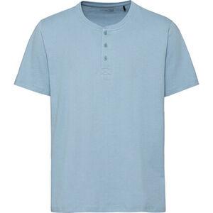 Schiesser Herren Shirt mit Knopfleiste, hellblau, 52, L