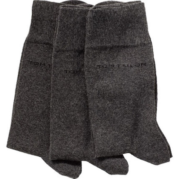 Tom Tailor Herren Socken, 3er Pack, uni