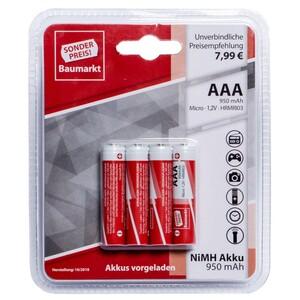 Sonderpreis Baumarkt Akku Batterien AAA 4 Stück