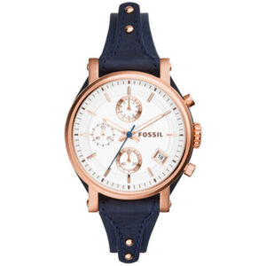 """Fossil Damen Chronograph Original Boyfriend """"ES3838"""", Blau"""