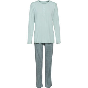 Schiesser Damen Jersey-Schlafanzug, hellmint, 44, 44