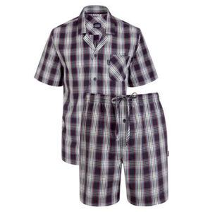 """Jockey Schlafanzug """"USA Originals"""", kurz, kariert, Baumwolle, dunkelblau-weiß, M"""