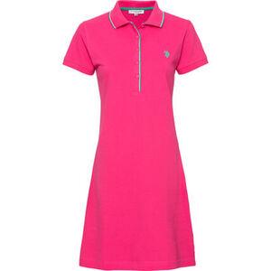 U.S. POLO ASSN. Damen Polo-Kleid, pink, L, L